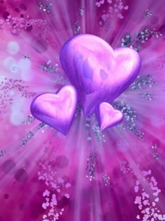 Purple Love Mobile Wallpaper