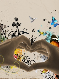 Hands Love Mobile Wallpaper