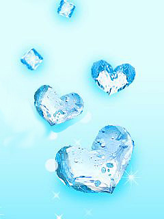 Blue Hearts Mobile Wallpaper
