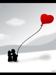 Heart Couple Mobile Wallpaper