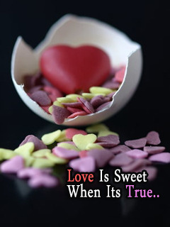 Love Is Sweet Mobile Wallpaper