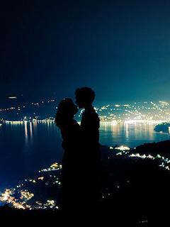 Couple Love Night Mobile Wallpaper