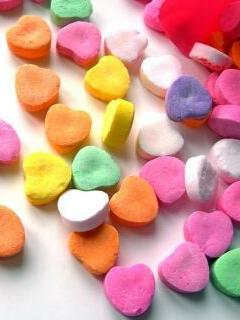 Colours Love Hearts Mobile Wallpaper
