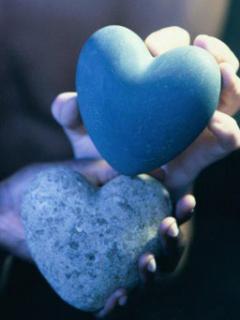 Blue Heart Mobile Wallpaper