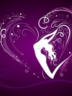 Heart N White Girl Mobile Wallpaper