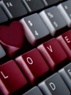 Keyboard Love Mobile Wallpaper