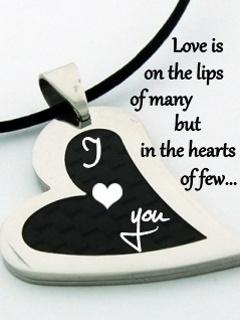 Love Is On Lips Mobile Wallpaper