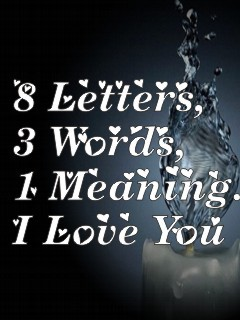 8 Letters I Love You Mobile Wallpaper