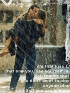 Kiss In Rain Mobile Wallpaper