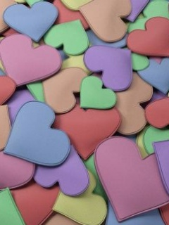 Sweet Colors Love Hearts Mobile Wallpaper