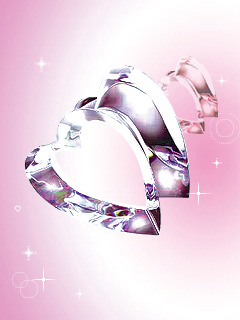 Crystal Heart Love Mobile Wallpaper