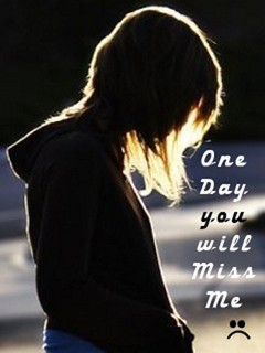 One Day U Miss Me Mobile Wallpaper