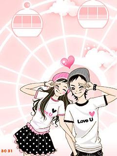 Happy Lovers Mobile Wallpaper