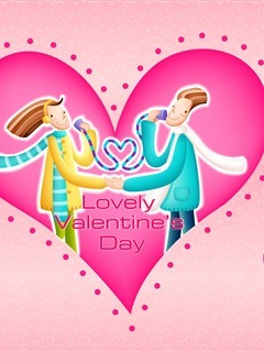 Lovely Happy Valentines Day Mobile Wallpaper