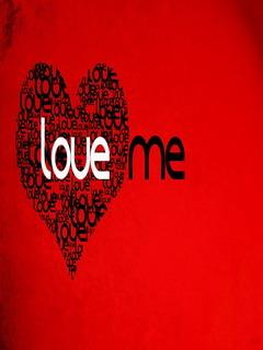 Love Me Valentine's Day Mobile Wallpaper