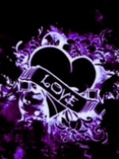 Black Purple Love Mobile Wallpaper