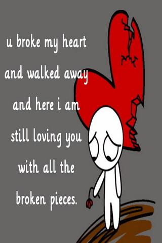 U Broken My Heart Mobile Wallpaper
