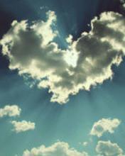 Heart-cloud Mobile Wallpaper