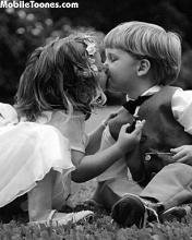 Kissing Child Mobile Wallpaper