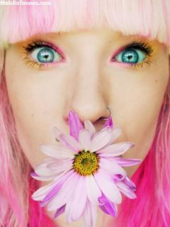 Lovely Girl In Pink Mobile Wallpaper