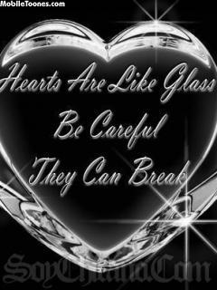 Glass Heart Mobile Wallpaper