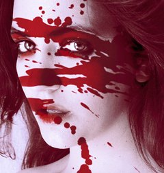 Blood Face Mobile Wallpaper