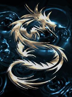 Blue Dragon Mobile Wallpaper