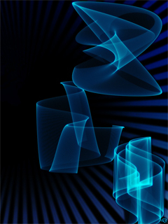 Blue Smoky Shapes Wallpaper Mobile Wallpaper