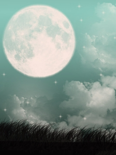 Midnight Full Moon Wallpaper Mobile