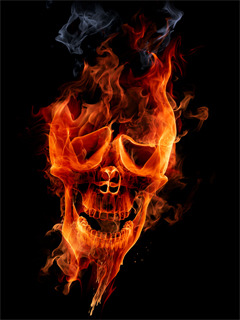 Fire Skull Mobile Wallpaper