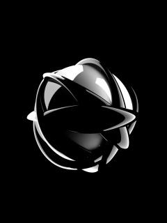 Ball Black Mobile Wallpaper