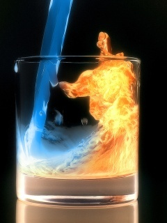 Water And Fire Mobile Wallpaper