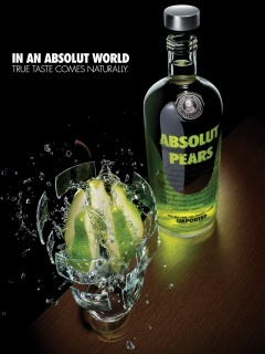 Absolut Pears Mobile Wallpaper