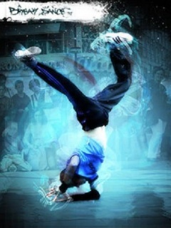 Blue Break Dance Mobile Wallpaper