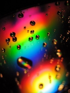 Colorful Drops Mobile Wallpaper