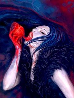 Drinking Blood Mobile Wallpaper