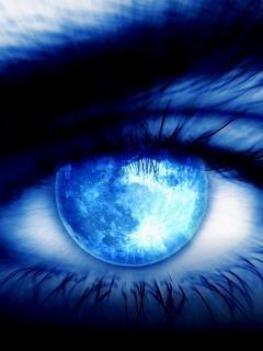 Moon Color Eye Mobile Wallpaper