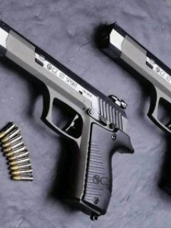 Gun With Bulets Mobile Wallpaper