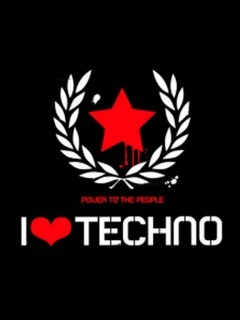 I Love Techno Mobile Wallpaper