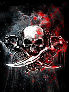 Skull And Daggers Mobile Wallpaper