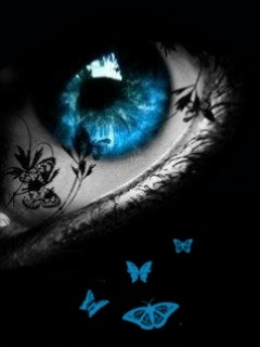 Blue Butterfly Eye  Mobile Wallpaper
