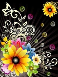 Fanstasy Flower Mobile Wallpaper