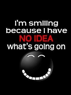 Im Smiling Mobile Wallpaper