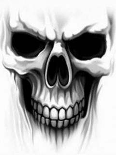Ghost Skull Mobile Wallpaper