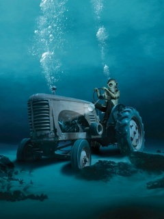 Tractor Diving Mobile Wallpaper