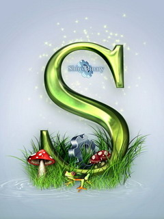 Green Letter S Mobile Wallpaper