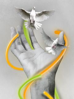 Hand Birds Mobile Wallpaper