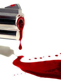 Blood Gun Mobile Wallpaper