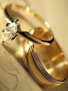 Golden Rings Mobile Wallpaper