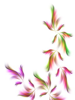 Spring Feathers White Mobile Wallpaper